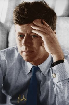 JFK always cared about his clothes, changing his shirts three or four times a day. This is very ironic, especially given JFK in his youth always looked unkempt and dirty. The Kennedy's believed that your image was of the upmost importance to how people perceived you, and this led to a certain vanity in JFK. - Y.