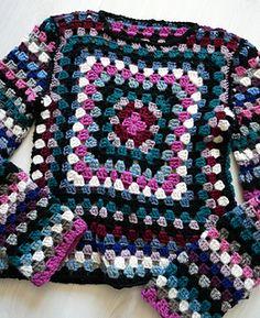 It's nice. Crochet Socks Pattern, Crochet Jumper, Granny Square Crochet Pattern, Sweater Knitting Patterns, Cute Crochet, Knit Crochet, Crochet Patterns, Diy Crochet Projects, Crochet Crafts