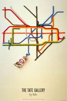 The Tate Gallery by Tube | Poster created by David Booth over 25 years ago.