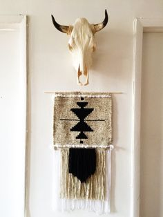 Woven Wall Hanging Seeds Weaving by bwtarot on Etsy