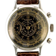 1950 Eterna Chronograph Tachymeter Telemeter by Timeline Watch