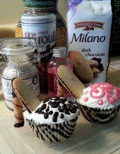 "High Heel Cupcakes! ""Great idea for a special event! ~(o.o)~""  @allthecooks #recipe"