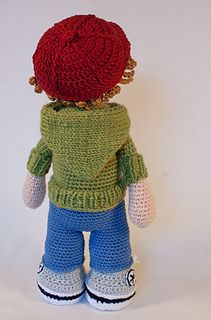 This listing is for an extensive PDF file which contains full instructions for crocheting and finishing off the doll JOSH.
