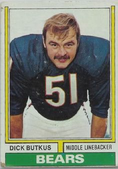 Dick Butkus - all man, all moustache.  #moustache #NFL #Butkus