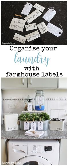 Organise your Laundry with Farmhouse Laundry Labels - Inner Circle Group Board - Have fun being creative and Organise your Laundry with farmhouse labels. This is a set of 7 Labels - Organizing Labels, Home Organization, Organizing Tips, Organising, Rustic Design, Rustic Decor, Laundry Labels, Vintage Laundry, Trendy Home