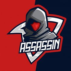 Dark red assassin e-sport mascot logo Premium Vector Assassin Logo, Spartan Logo, Graffiti Wall Art, Game Logo Design, Esports Logo, E Sport, Photography Logo Design, Logo Sticker, Animal Logo