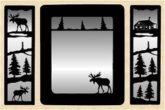 lodge mirror | ... Wall Art Mirror Northwoods Cabin Moose Bear Deer Elk Lodge Wall Decor