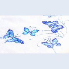 vervaco-tablecloth-blue-butterflies-.jpg (1000×1000)