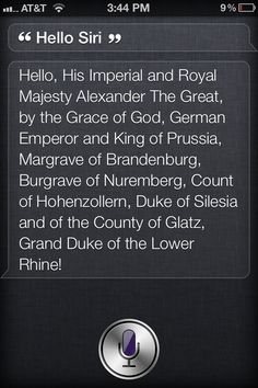 Don't let Siri forget formalities