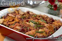 Salada de Bifum Colorida » Peixes e Frutos do Mar, Receitas Saudáveis, Saladas » Guloso e Saudável
