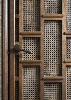 Detail of the Lutyens-designed lift door at Castle Drogo. ©National Trust Images/John Hammond