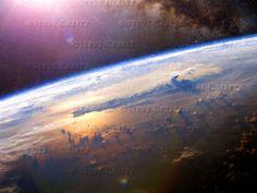 REVELATION — Creitz Illustration Studio Heaven Art, Airplane View, Northern Lights, Earth, Fire, Studio, Illustration, Nature, Naturaleza