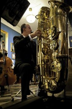 The lowest-pitched of all saxophones is the sub-contrabass. Bari, Contrabass Saxophone, Adolphe Sax, Making Musical Instruments, Brass Instrument, Saxophone Players, Jazz Club, Double Bass, Concert Hall