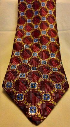 Jos.A. Bank. Signature Gold Men's Multi-color 100% Silk Neck Tie Limited Edition #JosABank #Tie