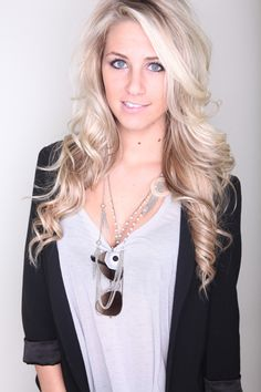 want my hair this blonde and this long!!