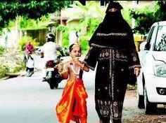 Muslim woman with Lord Krishna (his son!)