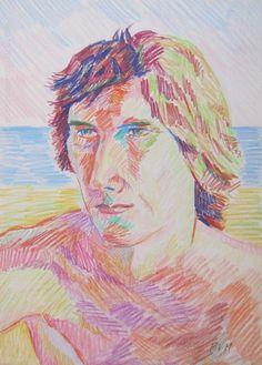 "Pablo Felipe Villegas Mañé ""Retrato V"" Pastel sobre papel  34 x 25 cm. Año 1975  Firmado abajo a la derecha  http://www.portondesanpedro.com/ver-producto.php?id=13299"