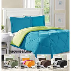 @Overstock - Relax and get a great night sleep in this wonderful down alternative comforter and sham set.  The comforter is super soft and reversible.http://www.overstock.com/Bedding-Bath/Home-Essence-Columbine-Twin-size-Down-Alternative-Comforter-and-Sham-Set/6014904/product.html?CID=214117 $31.49