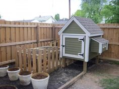 Chicken coop with self-contained run.  More and more, I'm liking the idea of backyard chickens.