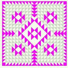 My mock up of my new quilt design: Aztec neon