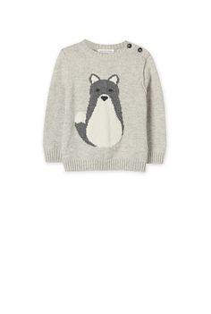 Baby Boy Knitwear - Country Road Online - Fox Intarsia Crew Knit