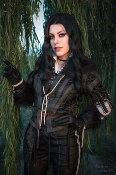 Post with 0 votes and 1505 views. Witcher: Yennefer Cosplay by Nadyasonika – Costume by CosplaySky Yennefer Cosplay, Yennefer Of Vengerberg, Game Costumes, The Witcher 3, Wild Hunt, Best Cosplay, Leather Gloves, Viral Videos, Trending Memes