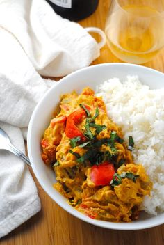 Baking, Cooking, Design and Travel | Vegan Thai Curry with Kabocha Squash | http://theblenderist.com