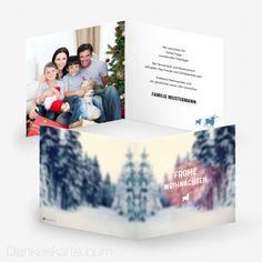 Weihnachtskarte Winterwonderland 14.5 x 14.5 cm - Dankeskarte.com Winter, Polaroid Film, Thanks Card, Xmas Cards, Christmas, Winter Time, Winter Fashion