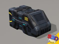 sci-fi big crate2 3d max - Sci-fi Big Crate2 by S3D.... by S3D_Characters