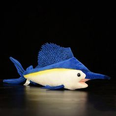 Sailfish Plush Toys – Huggable Fish Stuffed Toys For Children, Sea Animals Nerf Party, Toy Craft, Plush Animals, Handmade Toys, Plushies, Cool Toys, Kids Toys, Oriental, Fish