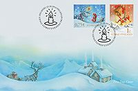 Posti online shop First Day Covers Joulu 2014 - ensipäivänkuori