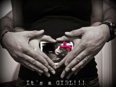 Adorable gender reveal photo!!!