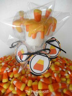 DIY Super Cute Marshmallow-Candy Corn Treats for Halloween