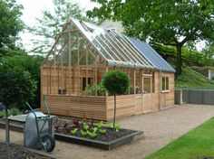 pinterest green house porches | 15ft x 24ft Kings Bromley Greenhouse with Home Office Extension, was ...