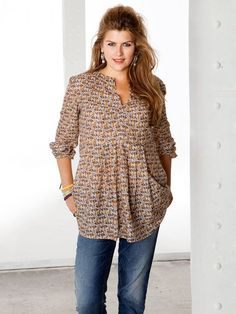 Printed Tunic (Plus Size) 01/2013 #133A – Sewing Patterns | BurdaStyle.com