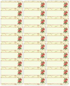 Flower Address Labels Cute Free Address Labels With A Vintage