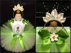 Fun princess tiana outfit and tiara Etsy listing at https://www.etsy.com/listing/189491239/tiana-tutu-set-oval-headband