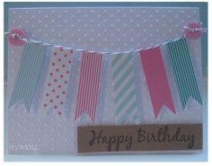 Simple washi tape banner card