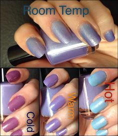 You Mountain I Blue it Thermal Nail Polish by EchoesPolish on Etsy, $10.00