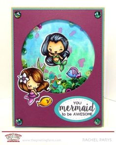 LITTLE-MERMAIDS-The-Greeting-Farm-Clear-Stamp-Stamping-Craft-Mini-Anya-Mermaid