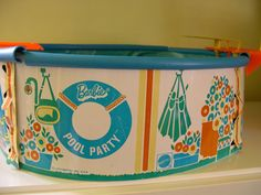 Vintage Mattel Barbie Swimming Pool in Original Box 1973; this was such a mess to set up and take down!!