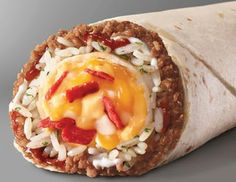 Taco Bell Reverse Quesarito Core Burrito