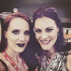 Floor Jansen with Simone Simmons at Nova Rock 2015