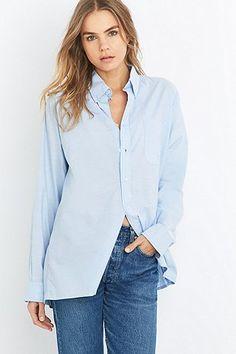 Urban Renewal Vintage Originals Blue Oxford Shirt