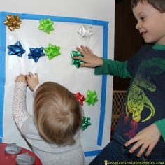 Christmas Bow Sticky Wall
