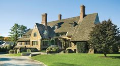 'Fairbourne', Greenwich CT -- Circa-1919 stone estate, beautifully restored by the architectural firm of Austin Patterson Disston.