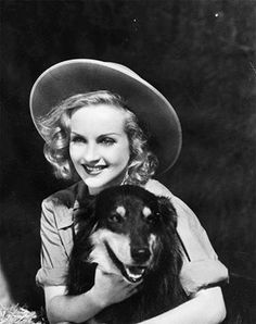 Carole Lombard and her dog