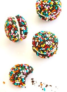 chocolate sprinkle cookie bites