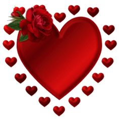 animated red | Red Rose Heart Animated Picture Glitter
