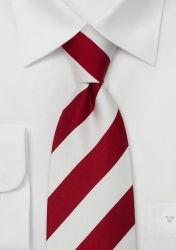 Breit gestreifte XXL-Krawatte rot/weiß günstig kaufen